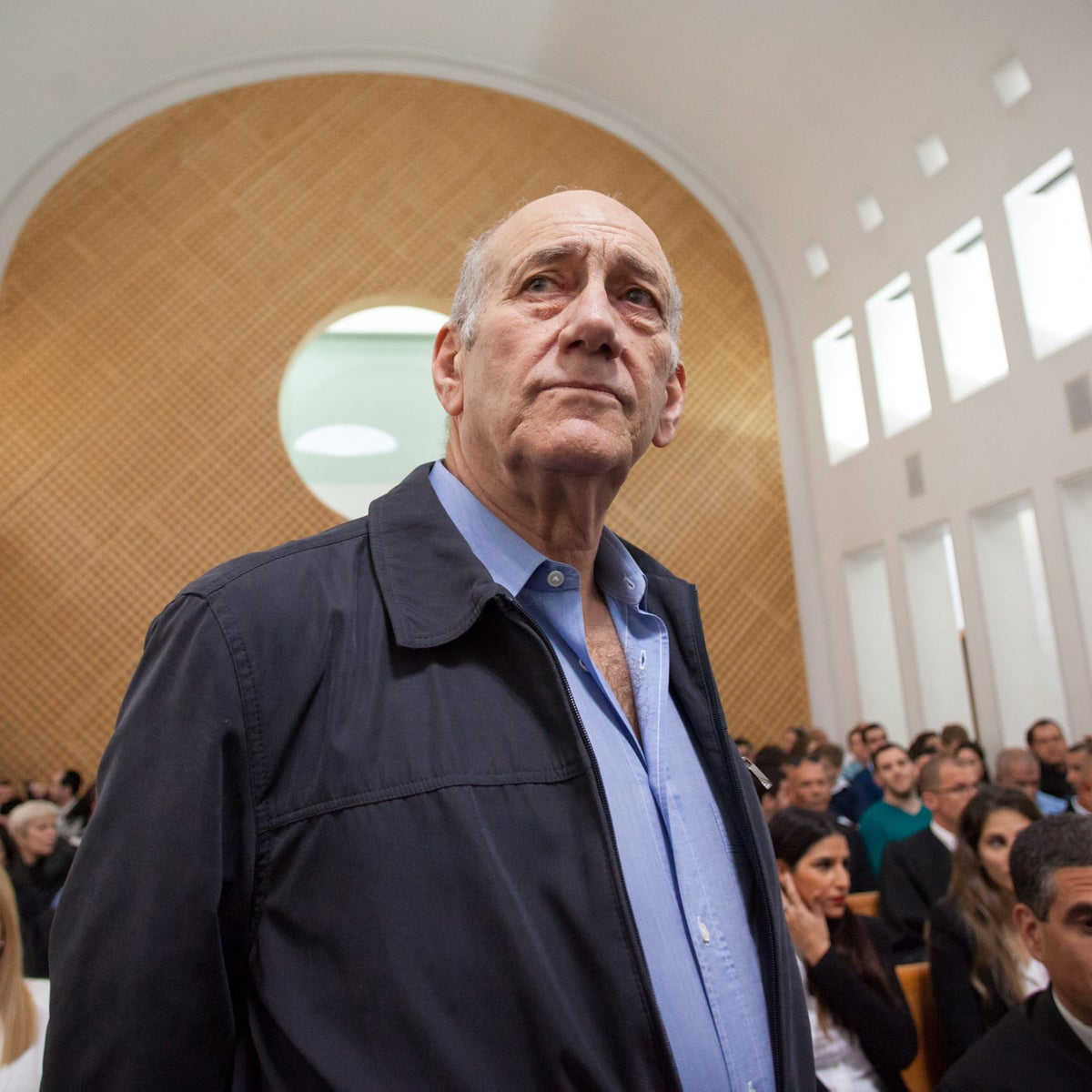 Former Israeli prime minister Ehud Olmert at the Supreme Court in Jerusalem in 2016.