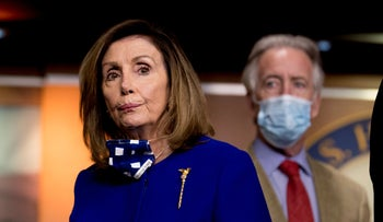 Democratic Rep. Richard Neal with House Speaker Nancy Pelosi during a news conference in Washington, July 2020.