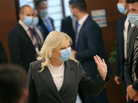 Sara Netanyahu at the Knesset, May 2020