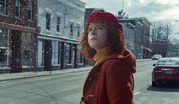 """Jessie Buckley as """"Young Woman"""" in Netflix's """"I'm Thinking of Ending Things."""""""