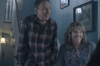 """David Thewlis and Toni Collette as the parents in Netflix's """"I'm Thinking of Ending Things."""""""