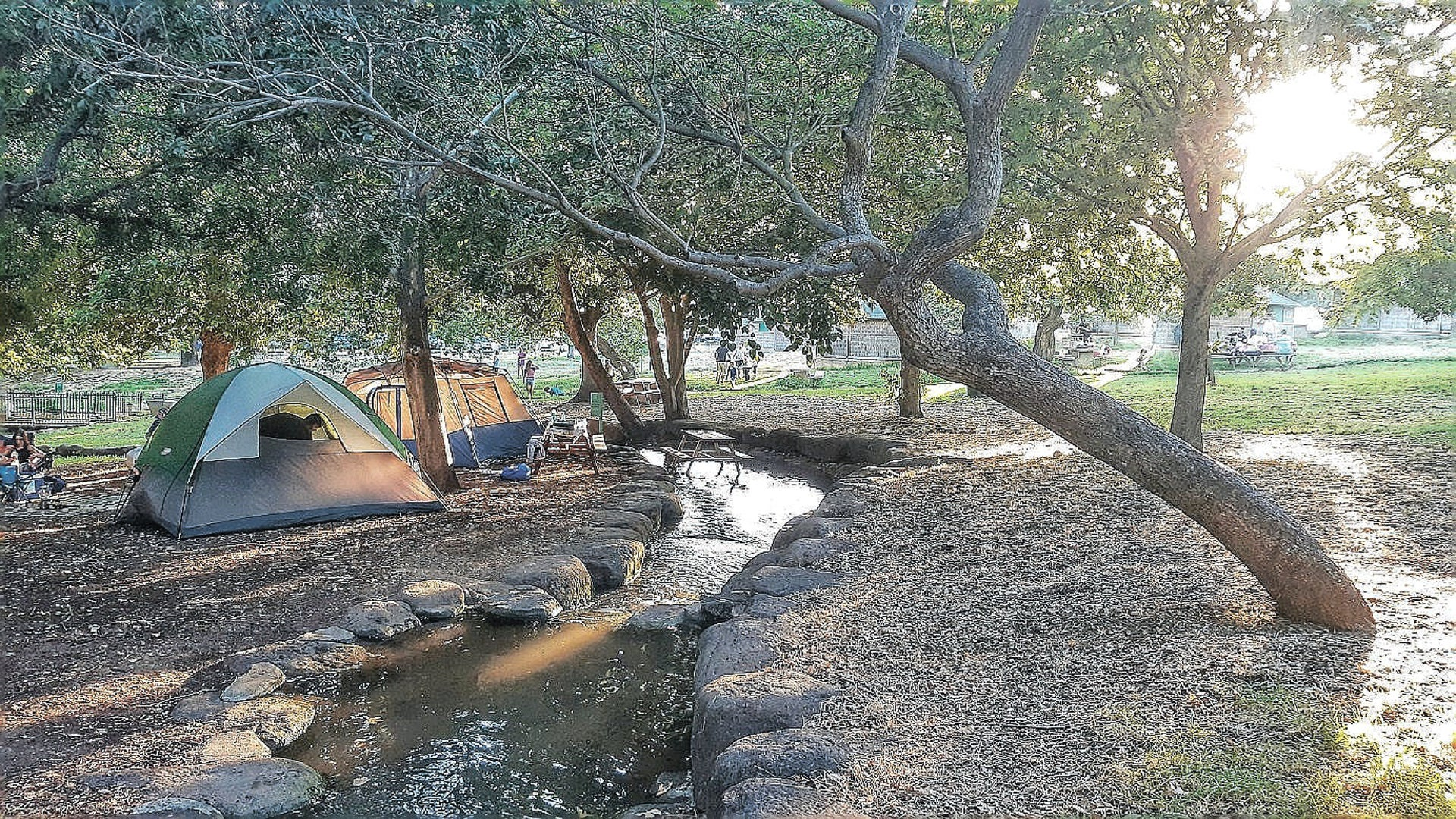 A camping site at the Hurshat Tal nature reserve.