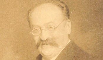 Composer Heinrich Schenker (1868–1935). Schenker did write music but was actually chiefly a theoretician.