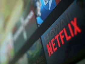 The Netflix logo is pictured on a television in this illustration photograph taken in Encinitas, California, January 18, 2017.