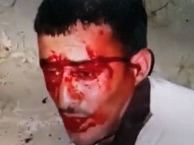 Majdi Ikhtat, captured in a video taken by his assailants.