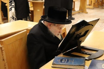 The late David Ganzfried, a Belzer Hassidic man from Jerusalem.