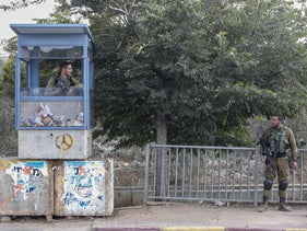 Israeli soldiers at the Ariel Junction, September 15, 2019.
