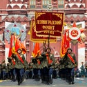 Russian soldiers wearing WWII-era uniforms march in Red Square during the Victory Day parade marking 75 years since the Nazi defeat in WWII. June 24, 2020.