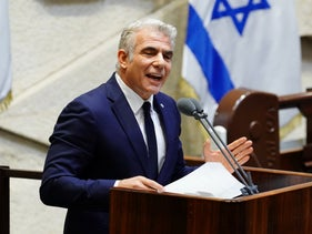 Yesh Atid Chairman Yair Lapid at the Knesset in Jerusalem, May 17, 2020.