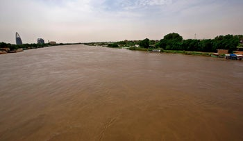Flood waters in Tuti island, where the Blue and White Nile merge in the Sudanese capital Khartoum, on September 3, 2020.