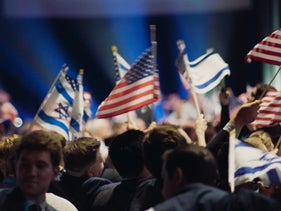 "The Christians United For Israel Summit in Washington, from ""'Til Kingdom Come."""