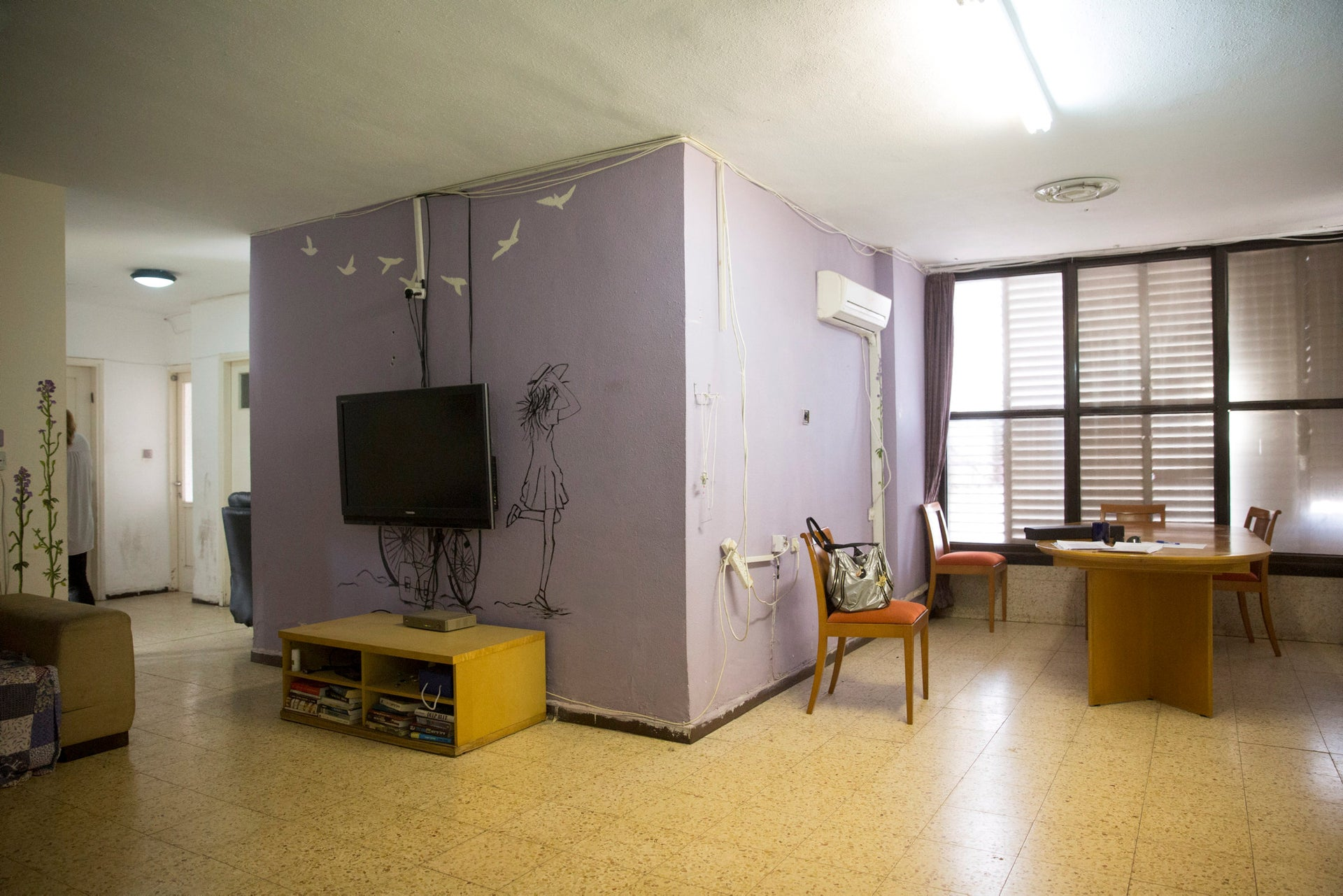 A Hillel apartment in Ramat Gan, provided for young people who have left the ultra-Orthodox community.