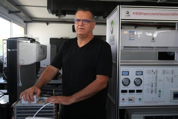 Moshe Or-Hai Shmueli, the owner of an air conditioning business, Petah Tikva, September 12, 2020.