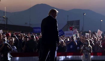 U.S. President Donald Trump attends a campaign rally in Reno, Nevada, U.S., September 12, 2020
