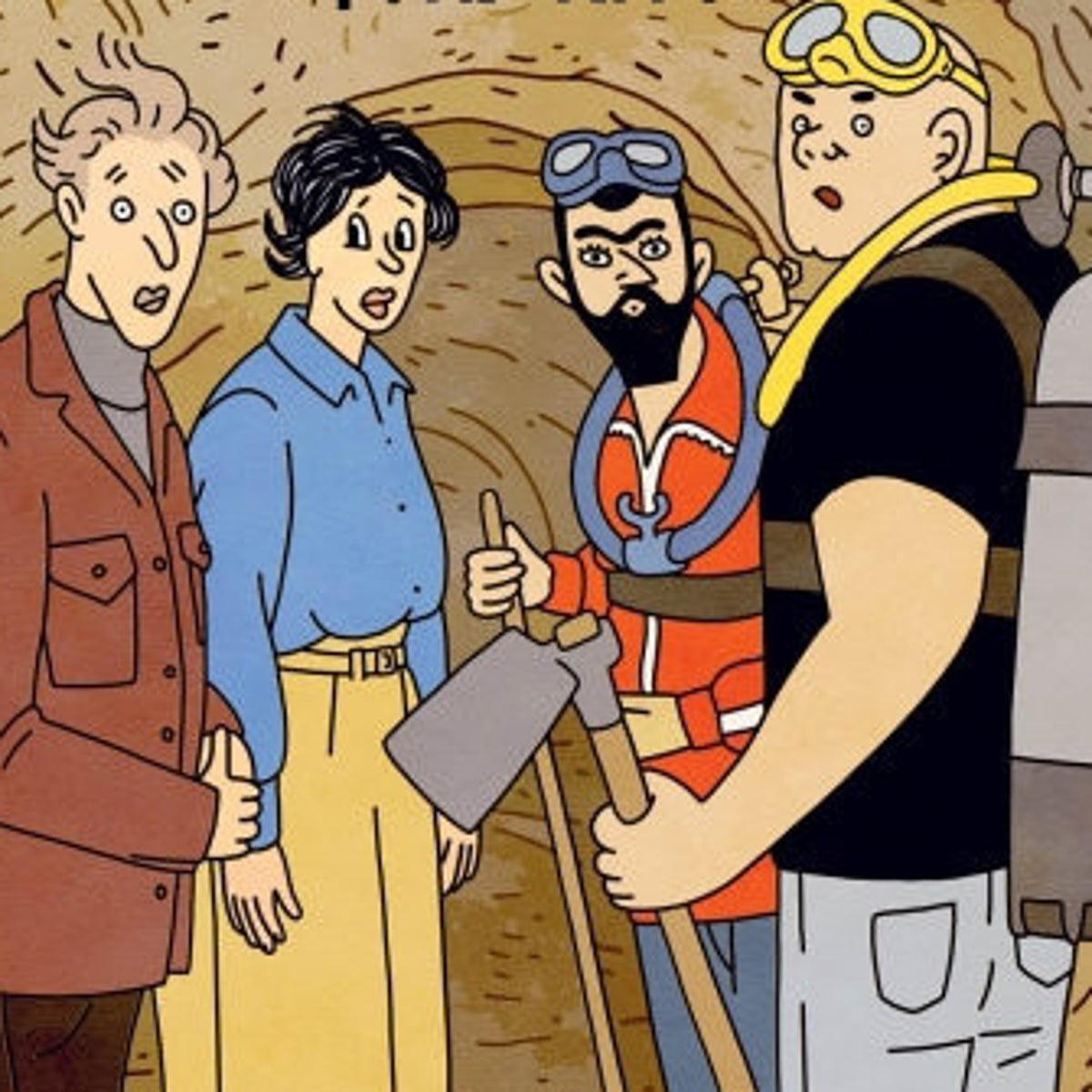 """The cover of Rutu Modan's """"Tunnels."""" Unusually, her latest book has been published in Israel first."""