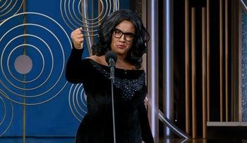 "Tom Yaar as Oprah Winfrey in a skit on ""A Wonderful Country."""