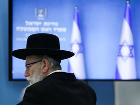The resigned health minister Yaakov Litzman.