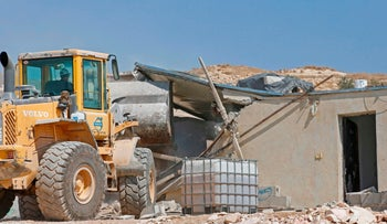 A house demolition in Area C of the West Bank.