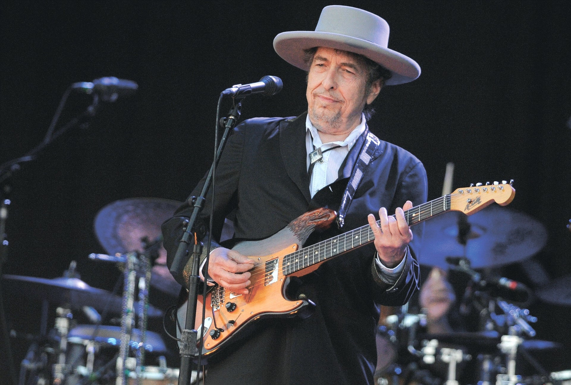 Bob Dylan performing in France in 2012.