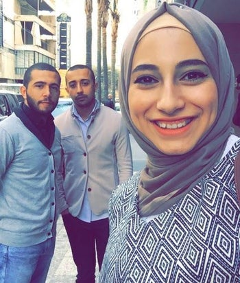 Yasmin Jaber with suspected operatives.