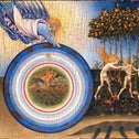 """""""The Creation of the World and the Expulsion from Paradise,"""" by Giovanni di Paolo (1445)."""