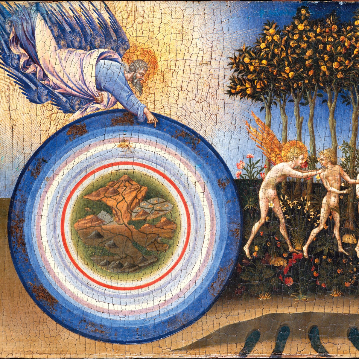 """The Creation of the World and the Expulsion from Paradise,"" by Giovanni di Paolo (1445)."