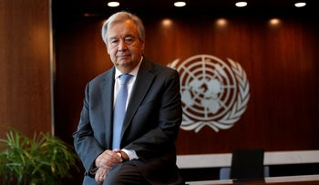 UN Secretary-General Antonio Guterres at U.N. headquarters in New York City, New York on September 14, 2020