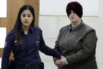 Accused pedophile Malka Leifer in Jerusalem District Court in 2018.