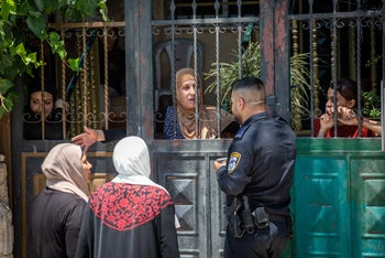 A Palestinian family evicted from their home in favor of the Elad organization, September 29, 2019.
