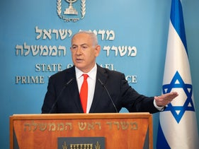 Prime Minister Benjamin Netanyahu gives a statement to the press, Jerusalem, September 13, 2020.