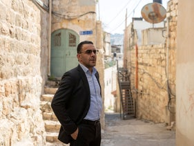 Palestinian governor of Jerusalem Adnan Ghaith in the East Jerusalem neighborhood of Silwan, September 2020.