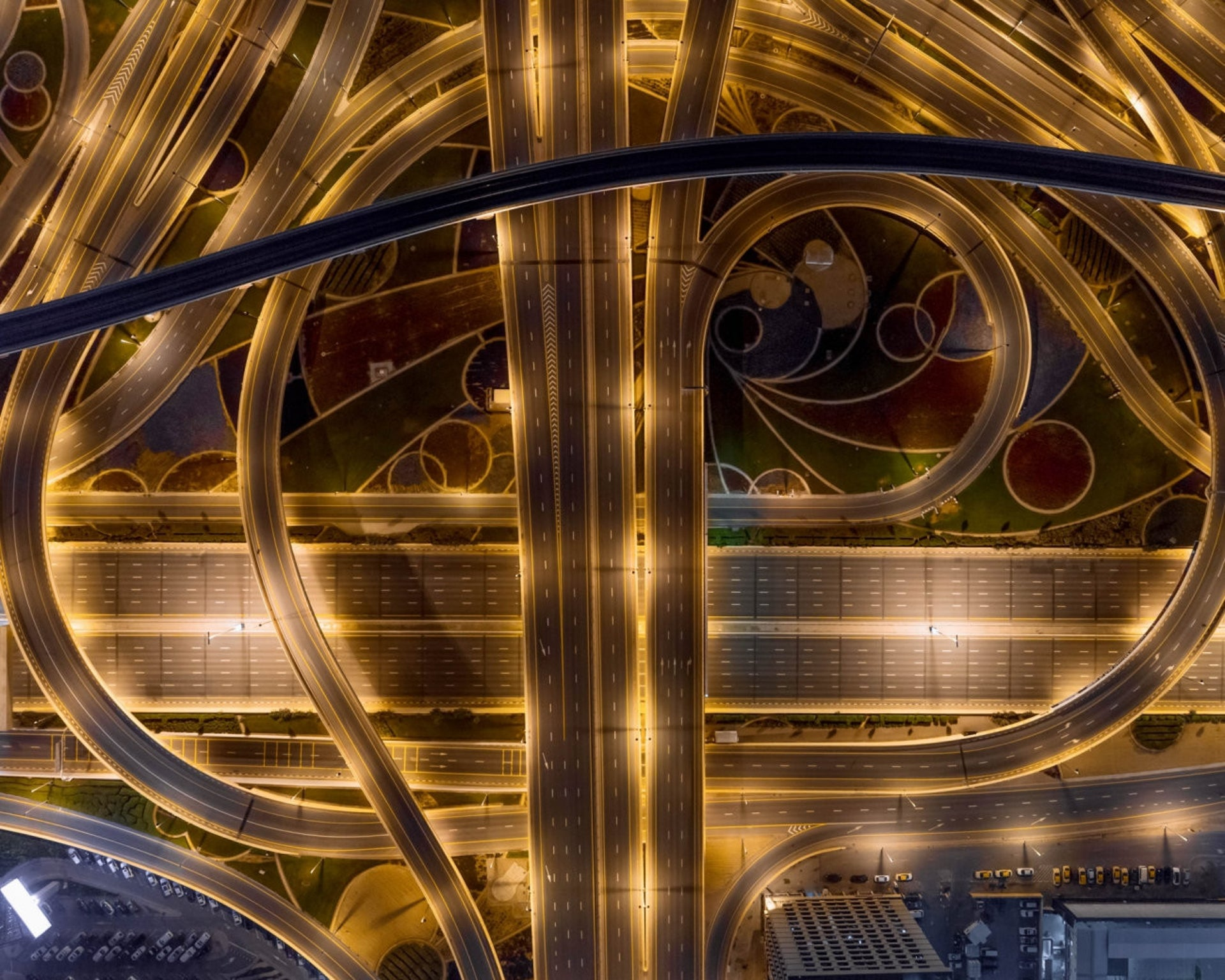 Empty highways in Dubai during the coronavirus pandemic, a photo by Bachir Moukarzel that featured in the 2020 International Siena Photo Awards.