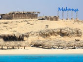 A general view of an empty beach at Mahmya during the summer season in Hurghada, Egypt, August 25, 2020.