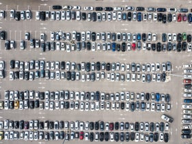 Parking lot in Yad Eliahu, Tel Aviv, February 18, 2020