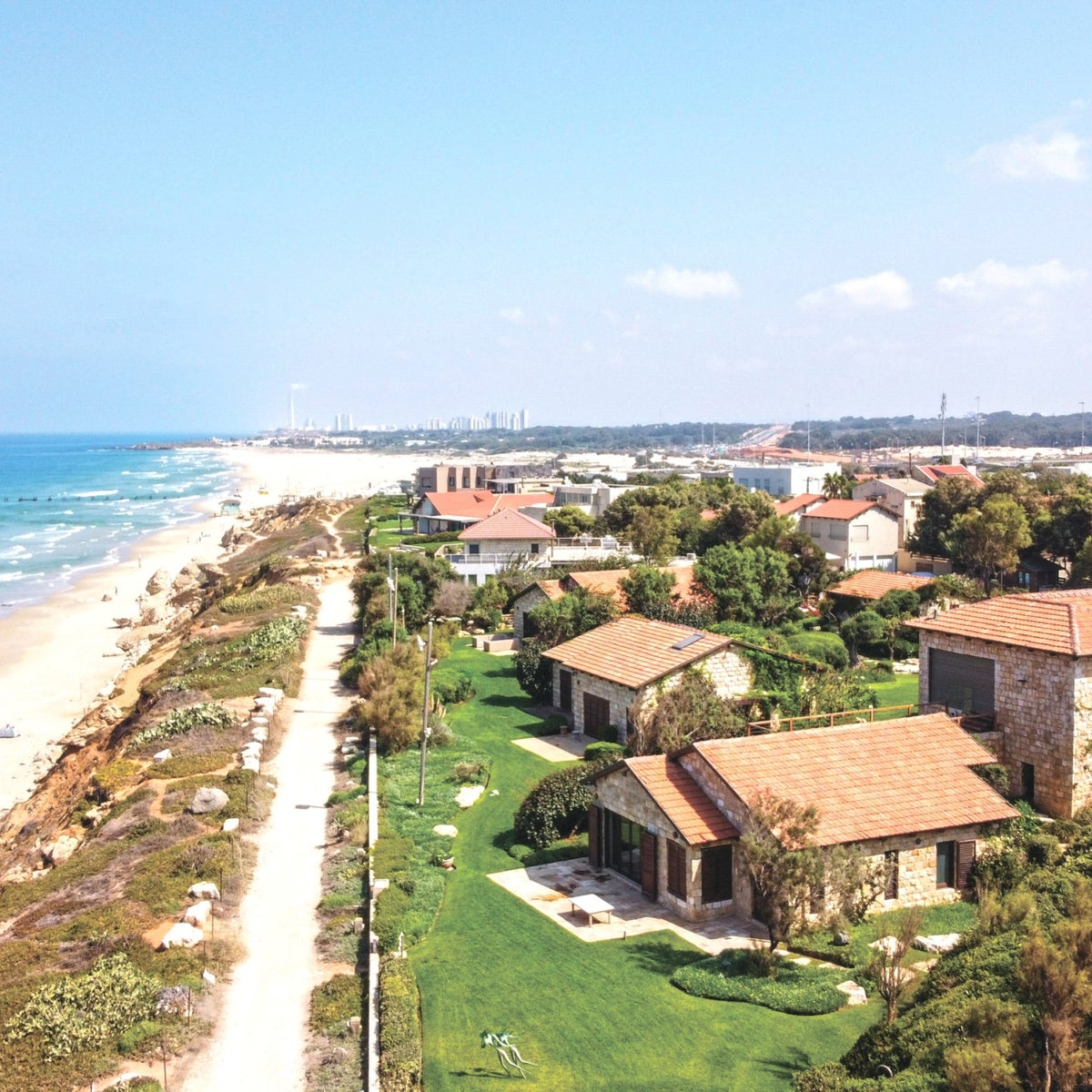Arsuf beach, in central Israel, September 14, 2020.
