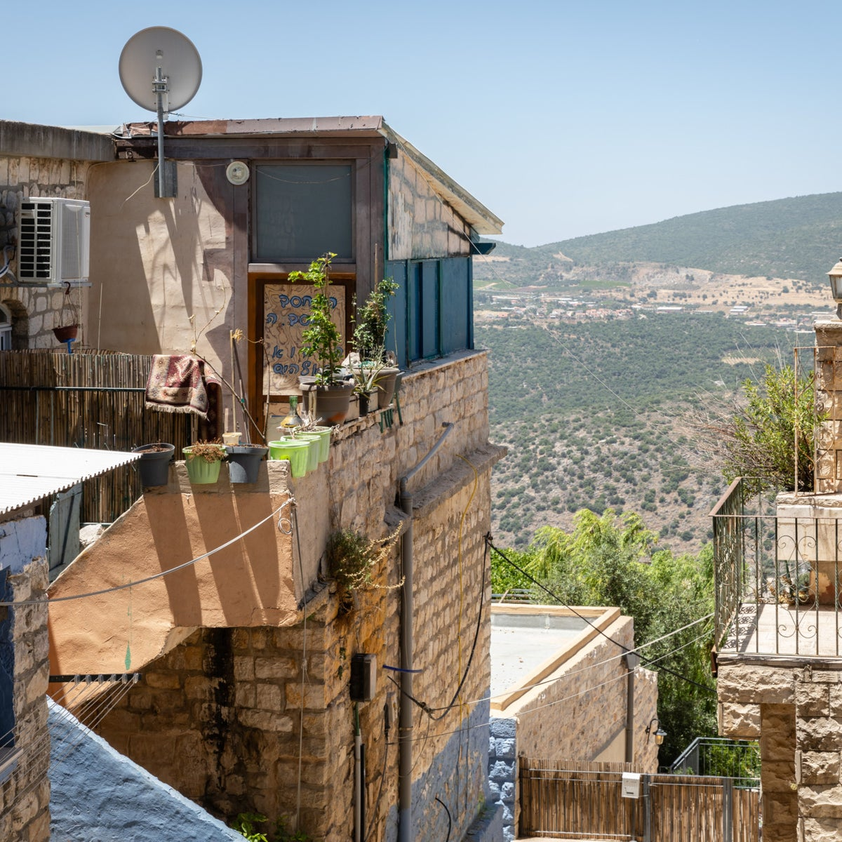 Homes in Safed, Israel's celestial hill-top city