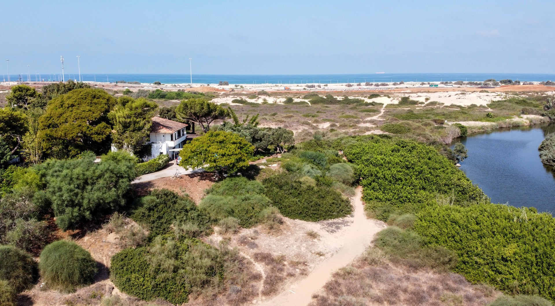 A home in Arsuf, a secluded, coastal village near Herzliya in central Israel, September 14, 2020