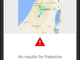 Screenshot: Searching for Palestine on Google Maps