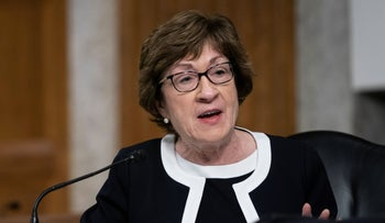 Sen. Susan Collins speaking during a COVID-19 hearing on Capitol Hill, September 25, 2020.