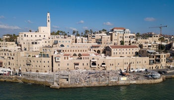 The old city of Jaffa as seen from the sea.