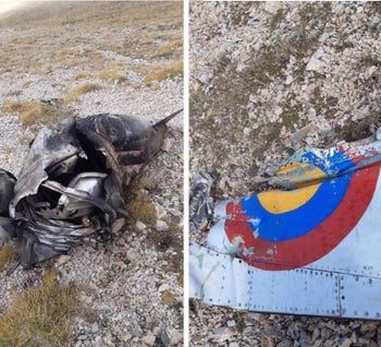 Armenia publishes photos of wreckage it says is SU-25 warplane shot down by Turkish F-16 jet