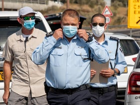 Acting police commissioner Motti Cohen on Israel's Road 1, August 2020. The police also asked to take down posts related to police violence, but the prosecution did not pass it on.