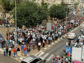 A demonstration in Sakhnin in memory of the events of October 2000, in which Israeli police killed 12 Palestinian citizens of Israel and one resident of Gaza, October 1, 2012.