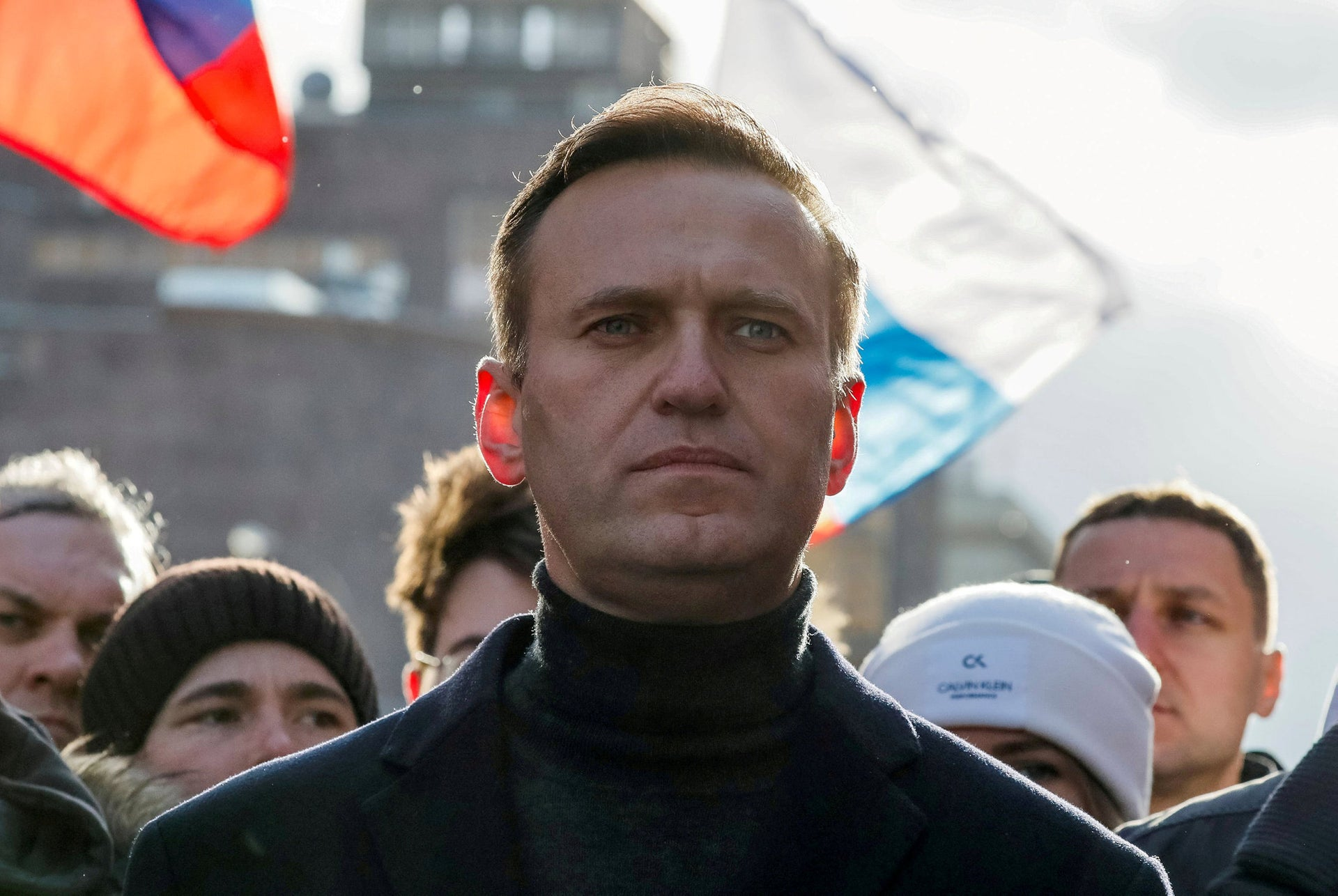 Alexei Navalny takes part in a rally to mark the 5th anniversary of opposition politician Boris Nemtsov's murder in Moscow, Russia February 29, 2020.