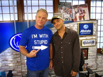 "WFAN radio hosts Boomer Esiason and Craig Carton, in ""Wild Card: The Downfall of a Radio Loudmouth."""