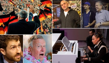 Clockwise from left: German Chancellor Helmut Kohl in East Germany, Craig Cartin, Lin-Manuel and Luis Miranda, Alicia Keys, Dick Johnson and Tristan Harris.