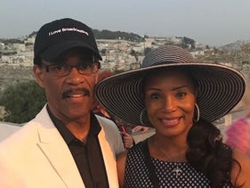Bishop of Israel Glenn Plummer and 'first lady' Pauline Plummer pictured after arriving in Israel.