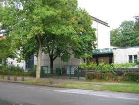 Synagogue Hohe Weide, Hamburg, where the attack allegedly took place, August 5, 2010.