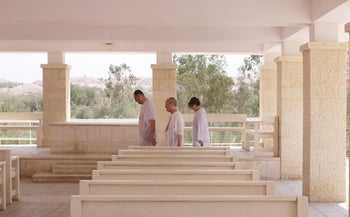 The Qasr al-Yahud baptism site, a major attraction for Christian tourists in the Holy Land.