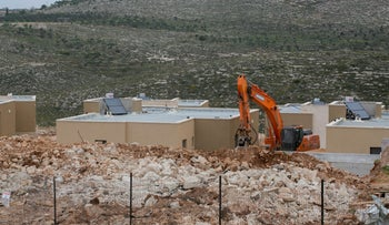 File photo: A neighborhood under construction in the West Bank in 2017.